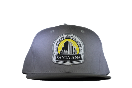 Snap Back Hat: Santa Ana Logo - Grey
