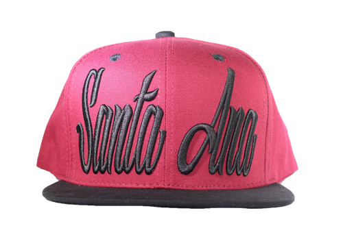 Santa Ana Snapback - Red/Black