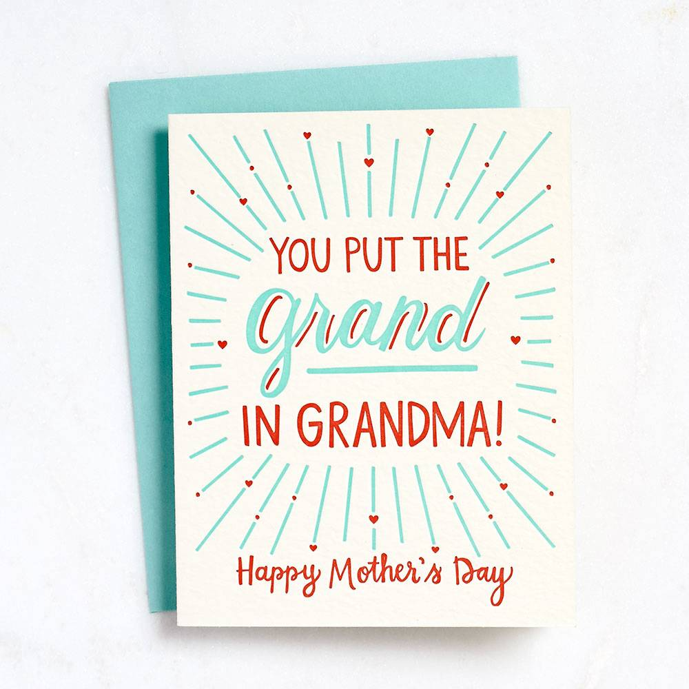 Grand in Grandma Letterpress Card