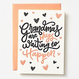 Grandma Hugs Mother's Day Card