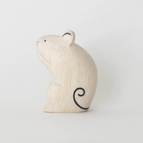 Hand Carved Wooden Mouse