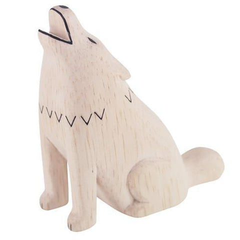 Hand Carved Wooden Wolf