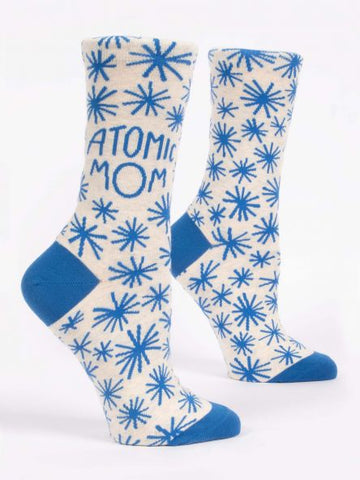 ATOMIC MOM W-CREW SOCKS