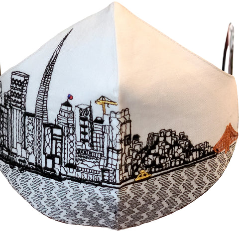 San Francisco Embroidered Skyline Face Mask