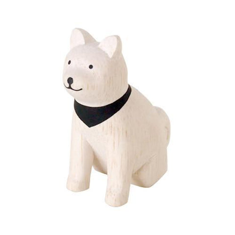 Hand Carved Wooden AKITA DOG