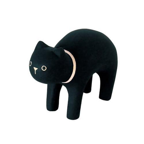 Hand Carved Wooden BLACK CAT