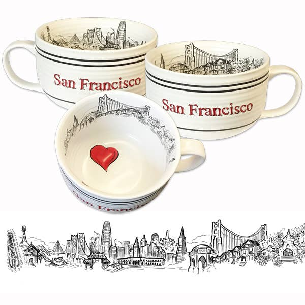 Heart in SF Soup Mug