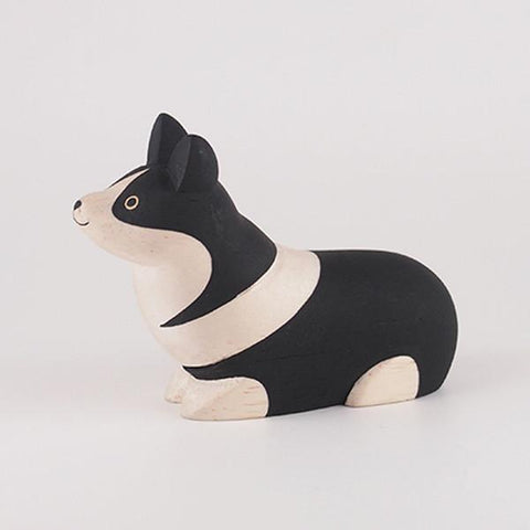 Hand Carved Wooden CORGI