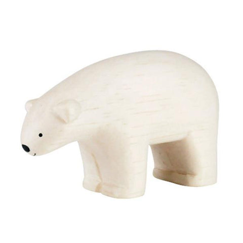 Hand Carved Wooden POLAR BEAR