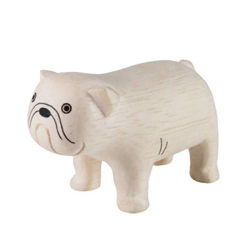 Hand Carved Wooden BULLDOG