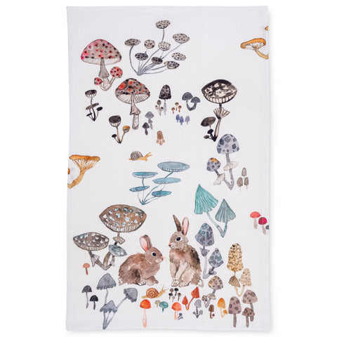 Field Bunnies Tea Towel