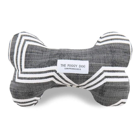 Trellis Charcoal Gray Geometric Dog Squeaky Toy
