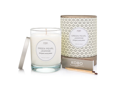 Green Pearl Jasmine Soy Candle