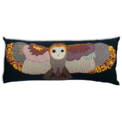 Flying Owl Hand Made Pillow