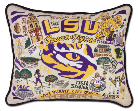 LSU COLLEGIATE, UNIVERSITY Pillow
