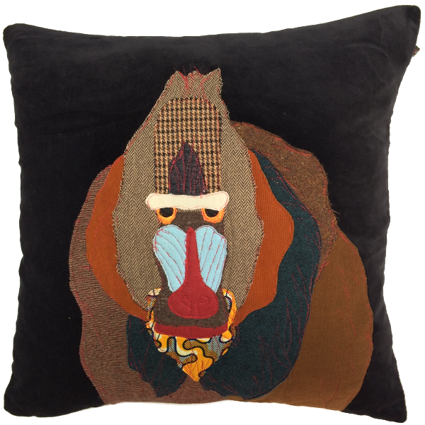 Mandrill Baboon Hand Made Pillow