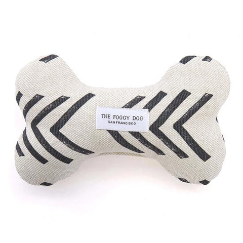 Modern Mud Cloth Natural Dog Squeaky Toy
