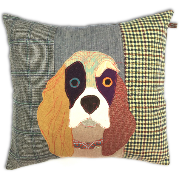 Muriel The Spaniel Hand Made Pillow