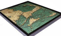Cape Cod, California 3-D Nautical Wood Chart