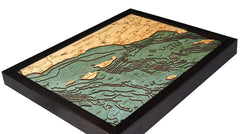 Santa Barbara/ Chanel Islands, 3-D Nautical Wood Chart