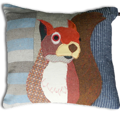 Squirrel Hand Made Pillow