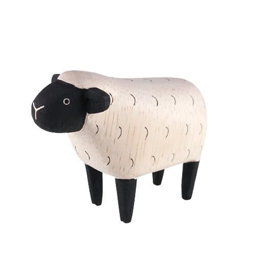 Hand Carved Wooden Sheep