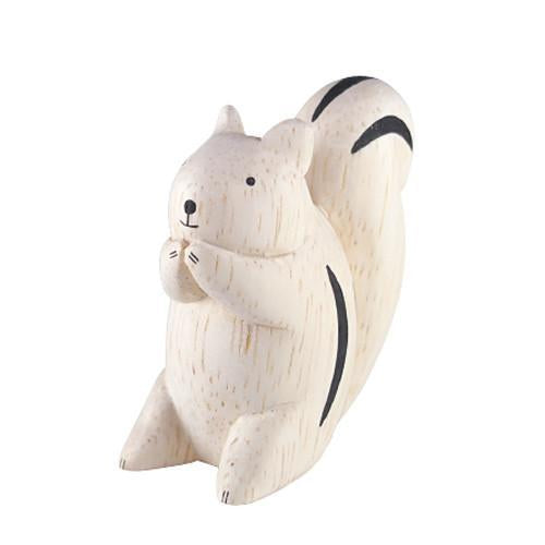 Hand Carved Wooden Squirrel