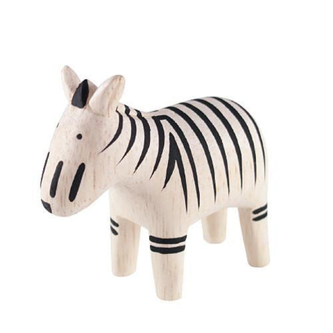 Hand Carved Wooden Zebra