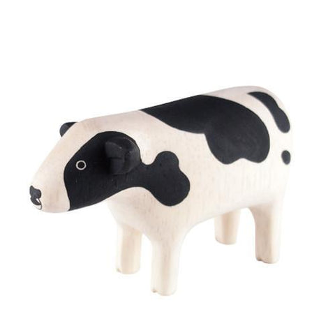 Hand Carved Wooden COW