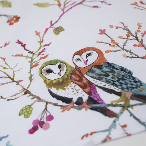 Barn Owls Tea Towel