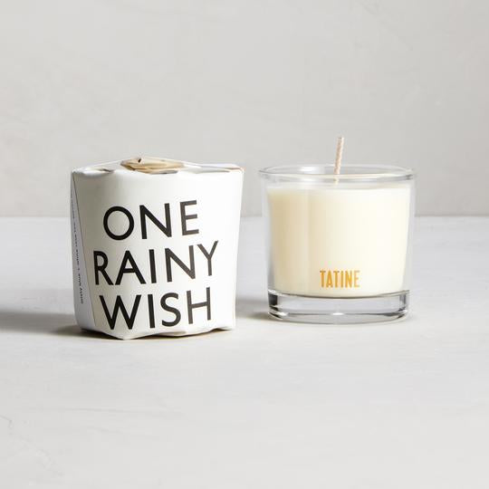 ONE RAINY WISH Votive Candle