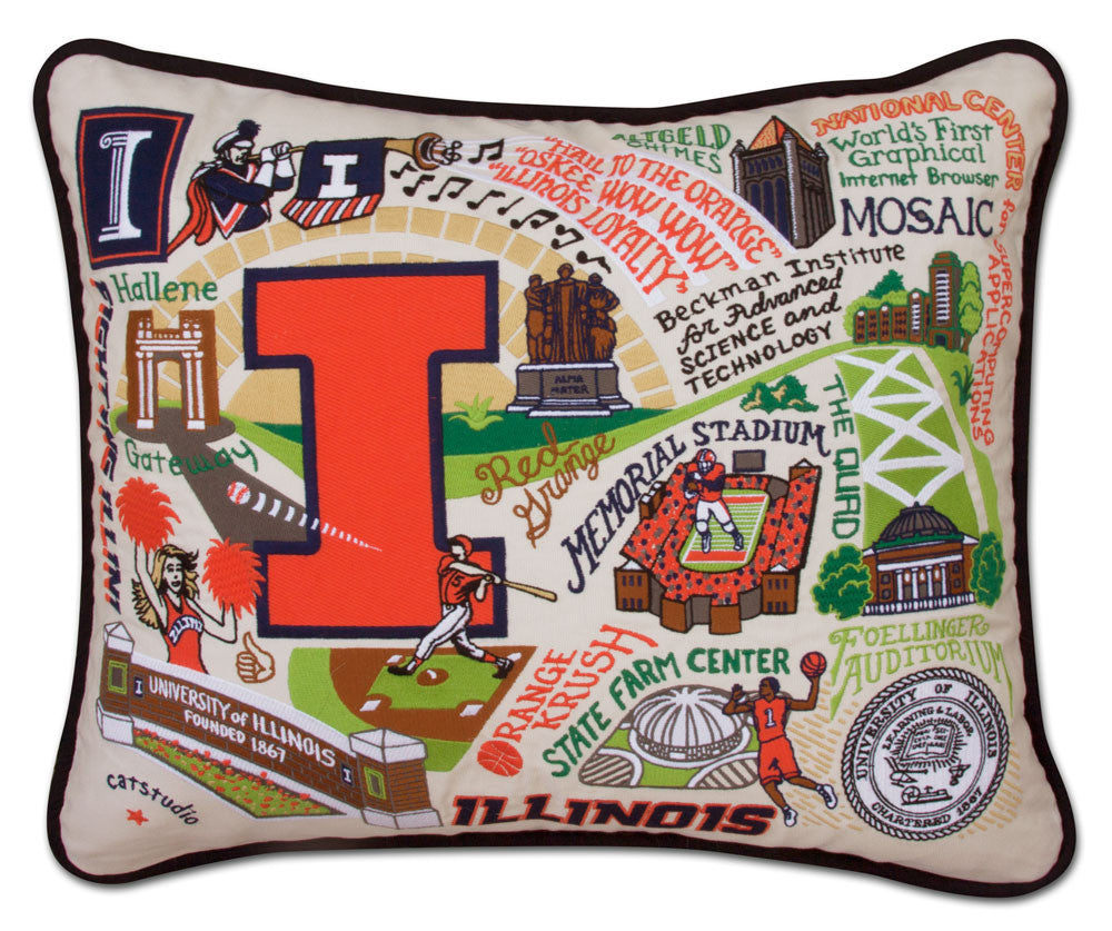 ILLINOIS, UNIVERSITY Pillow