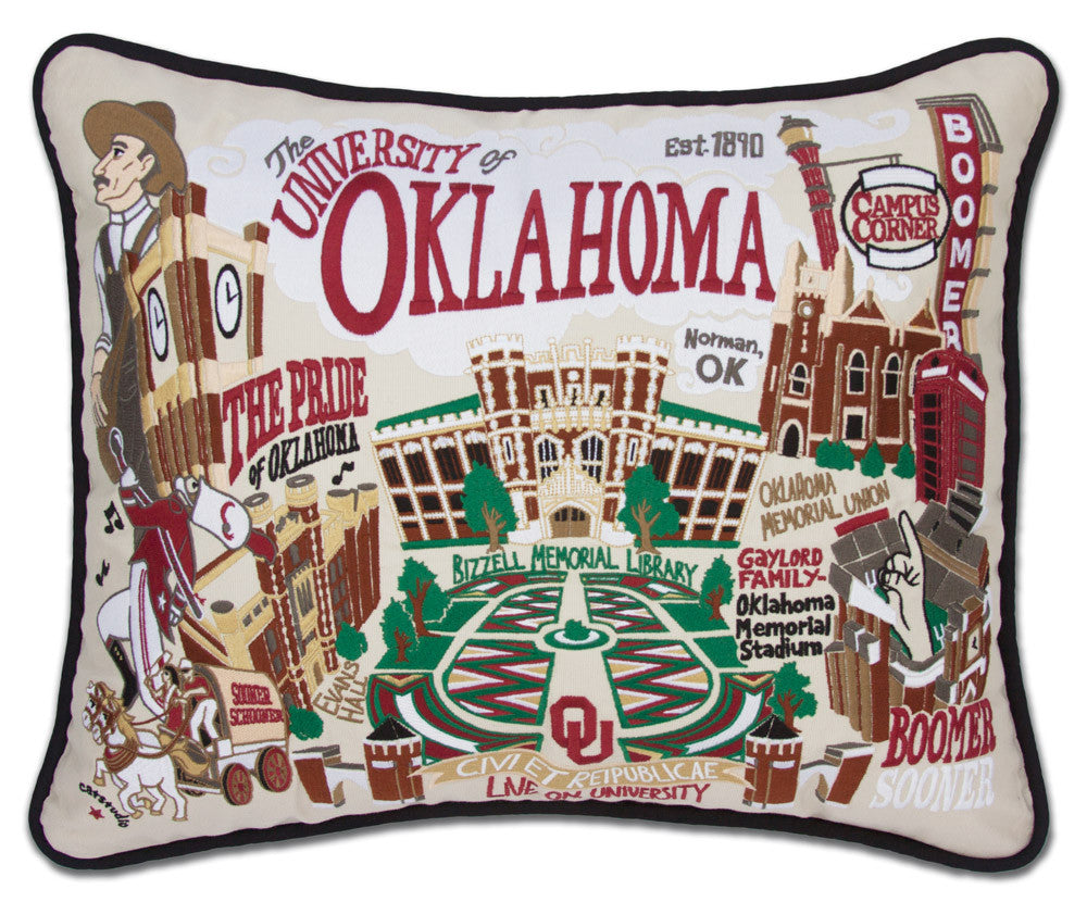 OKLAHOMA, UNIVERSITY Pillow