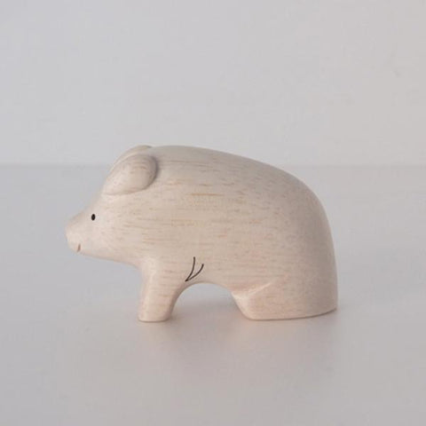 Hand Carved Wooden PIG