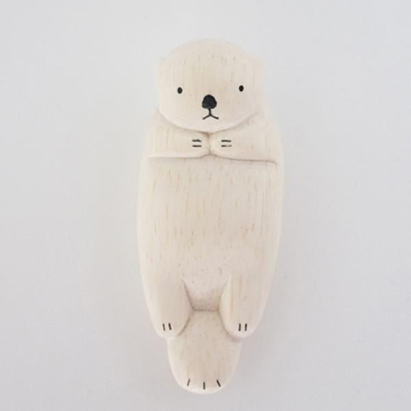 Hand Carved Wooden SEA OTTER