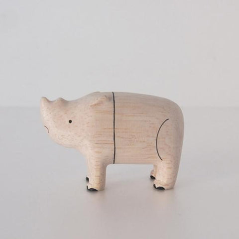 Hand Carved Wooden RHINOCEROS