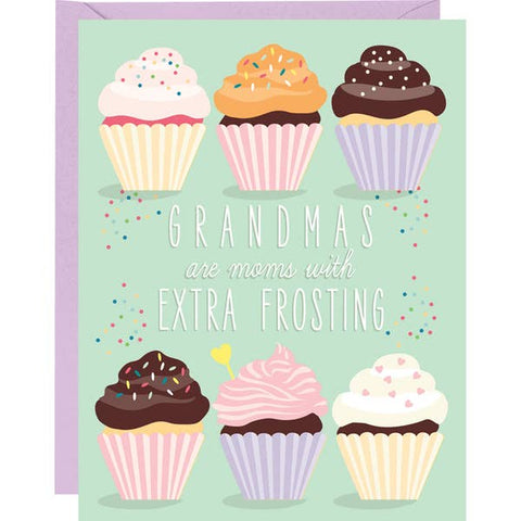 Extra Frosting Grandma Mother's Day Card