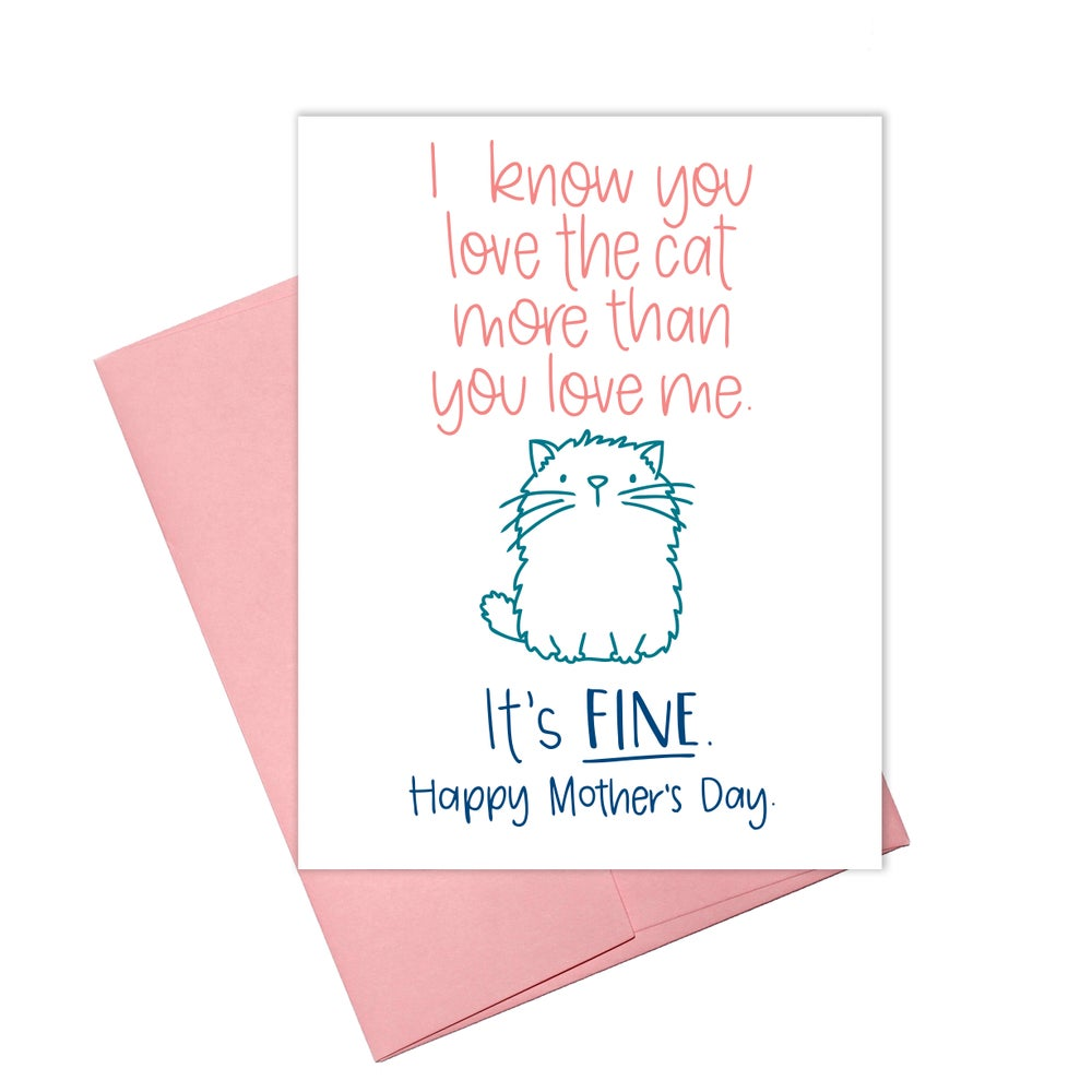 MOTHER'S DAY - LOVE THE CAT CARD