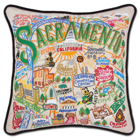 Sacramento Hand-Embroidered Pillow