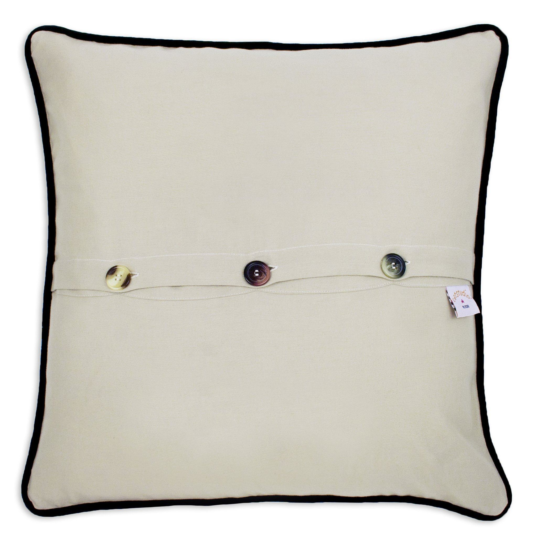 San Francisco City Hand-Embroidered Pillow