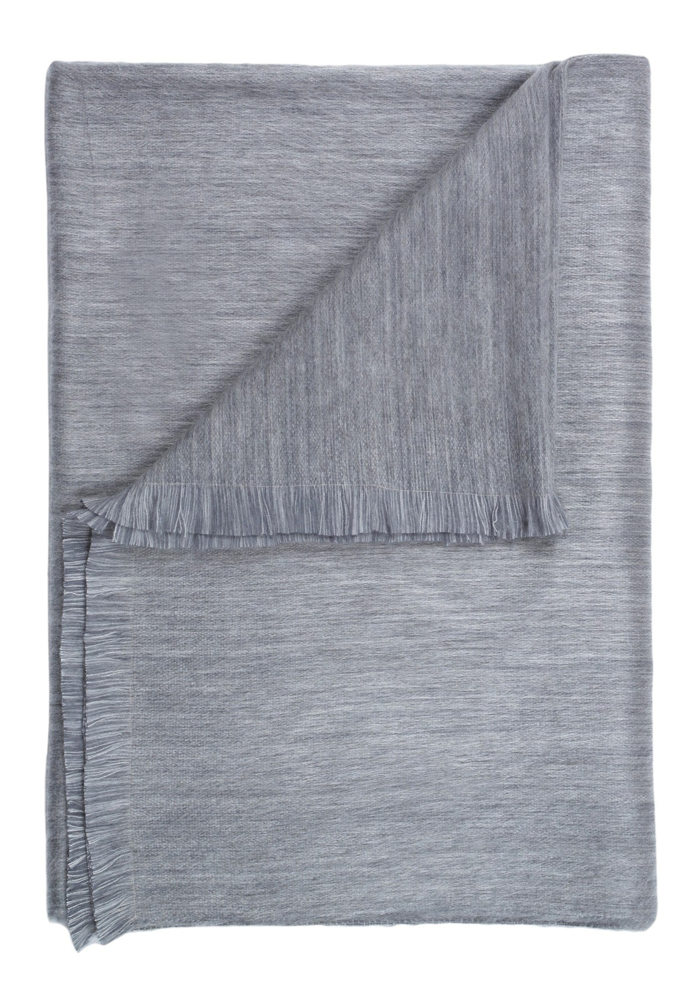 alpaca throw - pewter-sky
