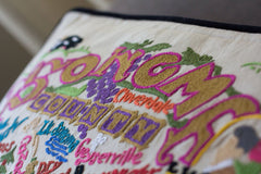 Sonoma County Hand-Embroidered Pillow