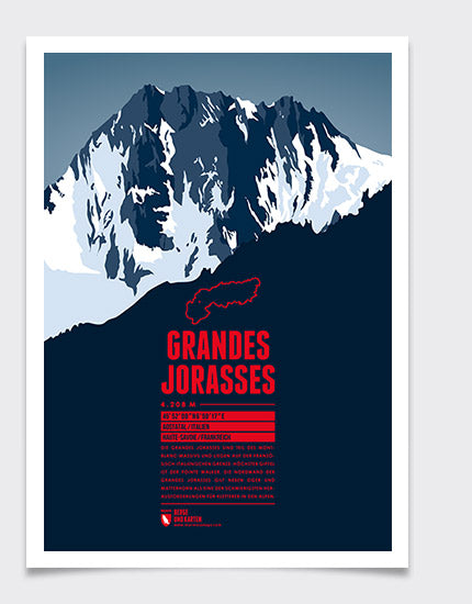 Marmota Maps Grandes Jorasses Wall Print | Backcountry Books