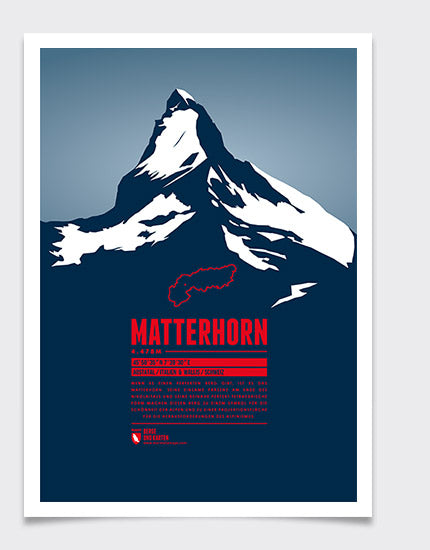 Marmota Maps Matterhorn Wall Print | Backcountry Books