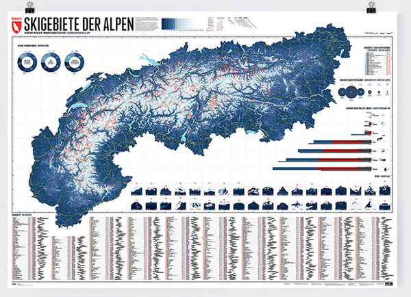 Marmota Maps Ski Resorts of the Alps | Backcountry Books