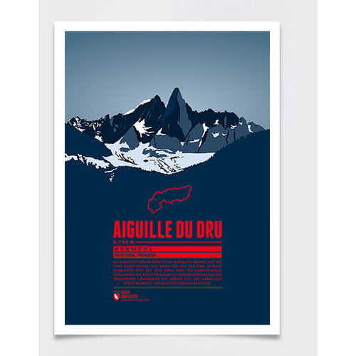 Aiguille du Dru Wall Print Marmota Maps | Backcountry Books