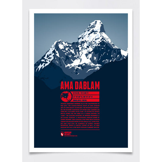 Ama Dablam Wall Print Marmota Maps | Backcountry Books