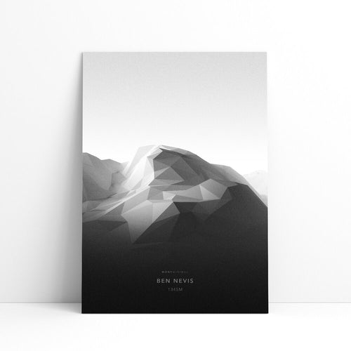 Ben Nevis Wall Print | Mont Minimal | Backcountry Books
