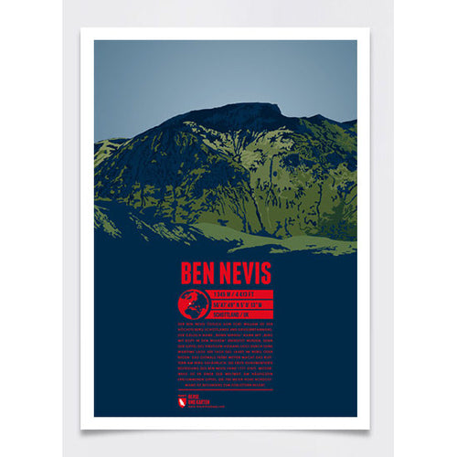 Ben Nevis Wall Print Poster | Marmota Maps | Backcountry Books