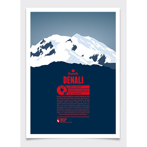 Denali Wall Print Marmota Maps | Backcountry Books